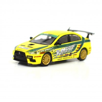 TARMAC WORKS 1/64 MITSUBISHI LANCER EVO X TOURING CAR - TUNED BY JUN