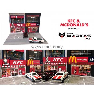 DIORAMA 1/64 - KFC & MCDONALDS