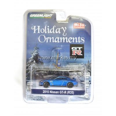 GREENLIGHT X MIJO 2015 NISSAN GT-R R35 BLUE HOLIDAY ORNAMENTS