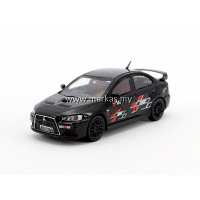 TARMAC WORKS 1/64 MITSUBISHI EVO X RALLIART EDITION BLACK