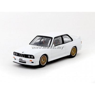 TARMAC WORKS 1/64 BMW M3 E30 PLAIN WHITE