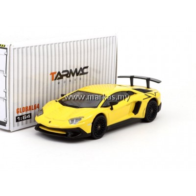 TARMAC WORKS GLOBAL64 1/64 LAMBORGHINI AVENTADOR SV -GIALLO ORION