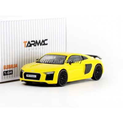 TARMAC WORKS GLOBAL64 1/64 AUDI R8 V10 PLUS -VEGAS YELLOW