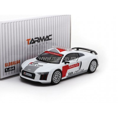 TARMAC WORKS 1/64 AUDI R8 LMS CUP SAFETY CAR (SILVER MULTI SPOKE WHEELS)
