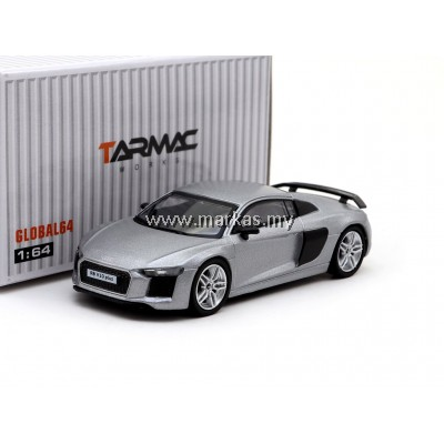 TARMAC WORKS GLOBAL 1/64 AUDI R8 MATT SILVER