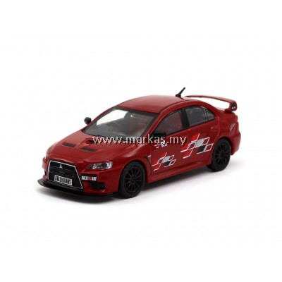TARMAC WORKS 1/64 MITSUBISHI EVO X RALLIART EDITION RED