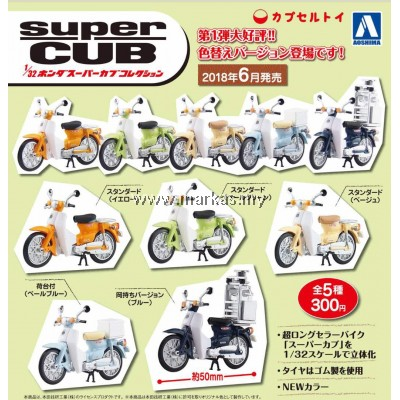 AOSHIMA 1/32 HONDA SUPERCUB 2018 COLLECTION