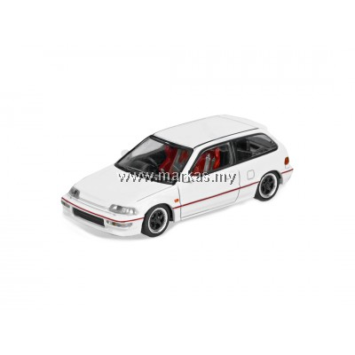 INNO-MODELS INNO64 1/64 HONDA CIVIC EF9 WHITE EDITION WITH SEPERATE DECALS SHEET