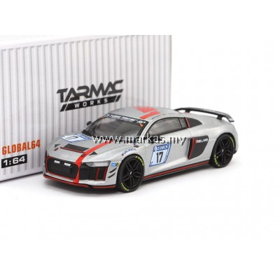TARMAC WORKS 1/64 GLOBAL64 AUDI R8 LMS GT4 - 2017 24H NURBURGRING #17