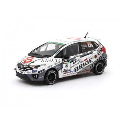TARMAC WORKS 1/43 HONDA FIT 3 RS - TEAM BRIDE SUPER TAIKYU 2017