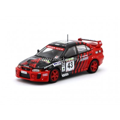 TARMAC WORKS 1/64 MITSUBISHI LANCER EVOLUTION V NEW ZEALAND RALLY 1999