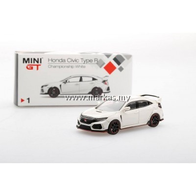 MINI GT 1/64 HONDA CIVIC TYPE R FK8 CHAMPIONSHIP WHITE (RHD)