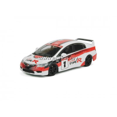 INNO MODELS INNO64 1/64 HONDA CIVIC TYPE-R FD2 #1 TYPE-R LIVERY JAPAN ONE MAKE RACER