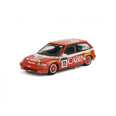 """INNO MODELS INNO64 1/64 HONDA CIVIC EF3 Gr.A #13 """"CABIN TRAMPIO"""" MACAU GUIA RACE 1988"""