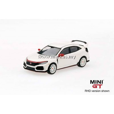 MINI GT 1/64 HONDA CIVIC TYPE R (FK8) CHAMPIONSHIP WHITE WITH MODULO KIT (RHD)