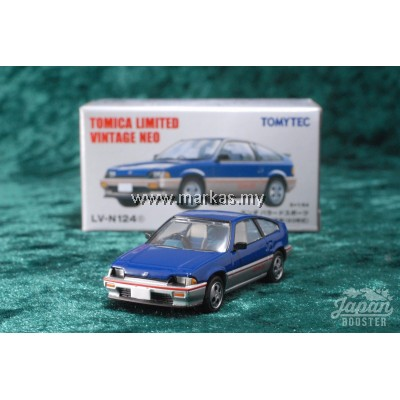 TOMICA LIMITED VINTAGE NEO LV-N124C HONDA BALLADE SPORTS CR-X 1.5i BLUE