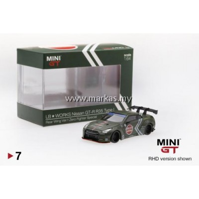 MINI GT 1/64 LB★WORKS NISSAN GT-R R35 TYPE ZERO FIGHTER (HIGH REAR WING)
