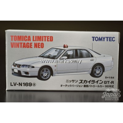 TOMICA LIMITED VINTAGE NEO LV-N169A NISSAN SKYLINE GT-R AUTECH VERSION 1998 POLICE
