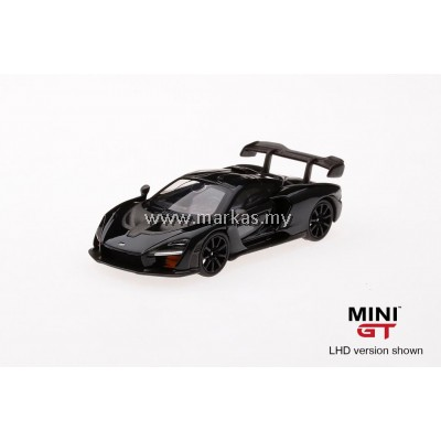 (PO) MINI GT 1/64 MCLAREN SENNA ONYX BLACK (RHD)
