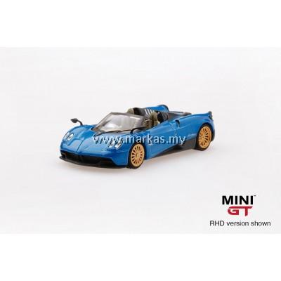 (PO) MINI GT 1/64 PAGANI HUAYRA ROADSTER BLUE FRANCIA (RHD)