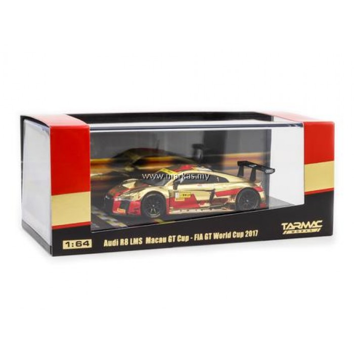 TARMAC WORKS 1/64 AUDI R8 LMS MACAU GT CUP - FIA GT WORLD CUP 2017 2ND PLACE ROBIN FRIJNS *MACAU GP 2018 SPECIAL*
