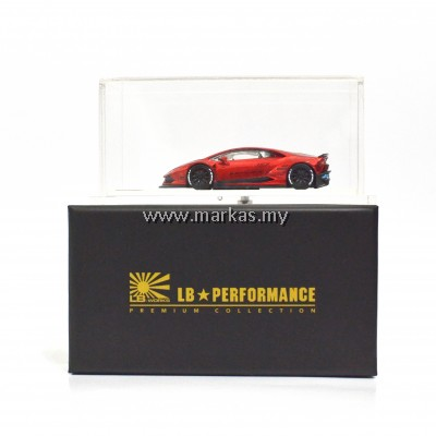 LB PERFORMANCE 1/64 HURACAN 610 RED CHROME