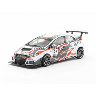 TARMAC WORKS 1/43 HONDA CIVIC TYPE R FK2 SUPER TAIKYU SERIES 2017