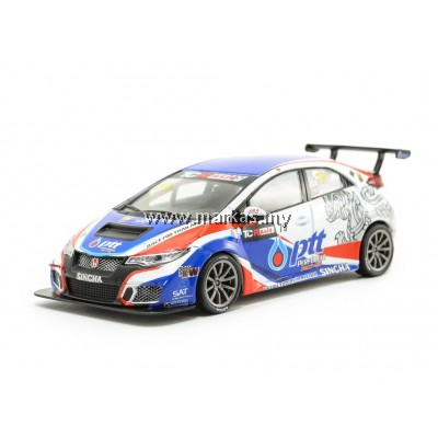 TARMAC WORKS 1/43 HONDA CIVIC TYPE R FK2 TCR ASIA 2017 TIN SRITRAI