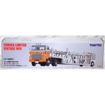 TOMICA LIMITED VINTAGE NEO LV-N89D HINO CAR TRANSPORTER (WHITE/ORANGE)