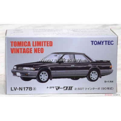 TOMICA LIMITED VINTAGE NEO LV-N178A TOYOTA MARK II 2.5G (BLACK/SILVER)