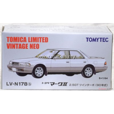 TOMICA LIMITED VINTAGE NEO LV-N178B TOYOTA MARK II 2.5G (WHITE/SILVER)