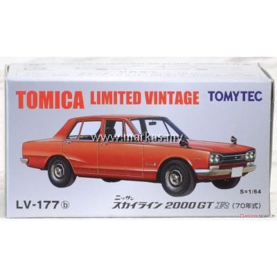 TOMICA LIMITED VINTAGE NEO LV-177B NISSAN SKYLINE 2000GT-R 1970 (RED)
