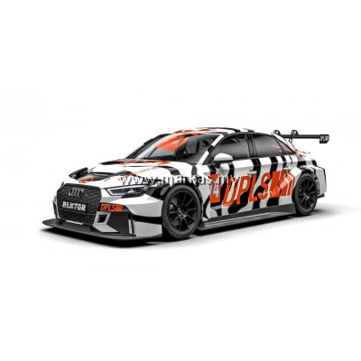 TARMAC WORKS X DEEPLIFESTYLE 1/64 AUDI RS3 WHITE TIGER