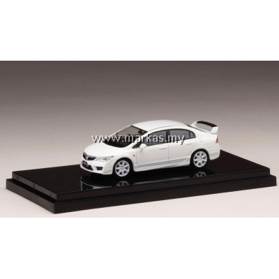 (PO) HOBBY JAPAN X MARK43 1/64 HONDA CIVIC TYPE R (FD2) CHAMPIONSHIP WHITE