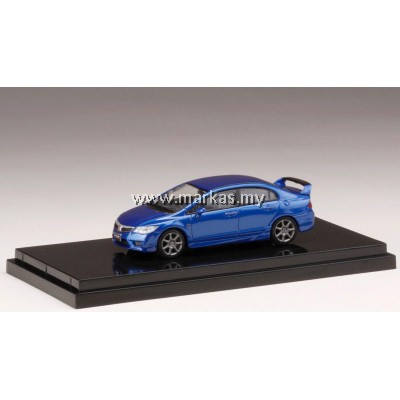 (PO) HOBBY JAPAN X MARK43 1/64 HONDA CIVIC TYPE R (FD2) VIVID BLUE PEARL
