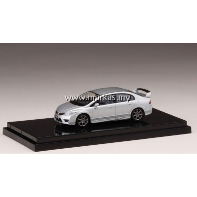 (PO) HOBBY JAPAN X MARK43 1/64 HONDA CIVIC TYPE R (FD2) SUPER PLATINUM METALLIC
