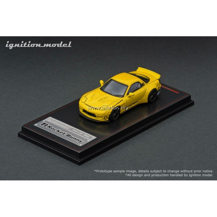 LOT IGNITION MODEL 1/64 ROCKET BUNNY RX-7 (FD3S) YELLOW AND TARMAC WORKS 1/43 (A/B/C/D)