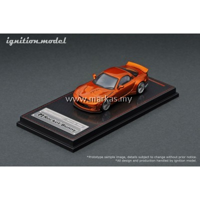 LOT IGNITION MODEL 1/64 ROCKET BUNNY RX-7 (FD3S) ORANGE METALLIC AND TARMAC WORKS 1/43 (A/B/C/D)
