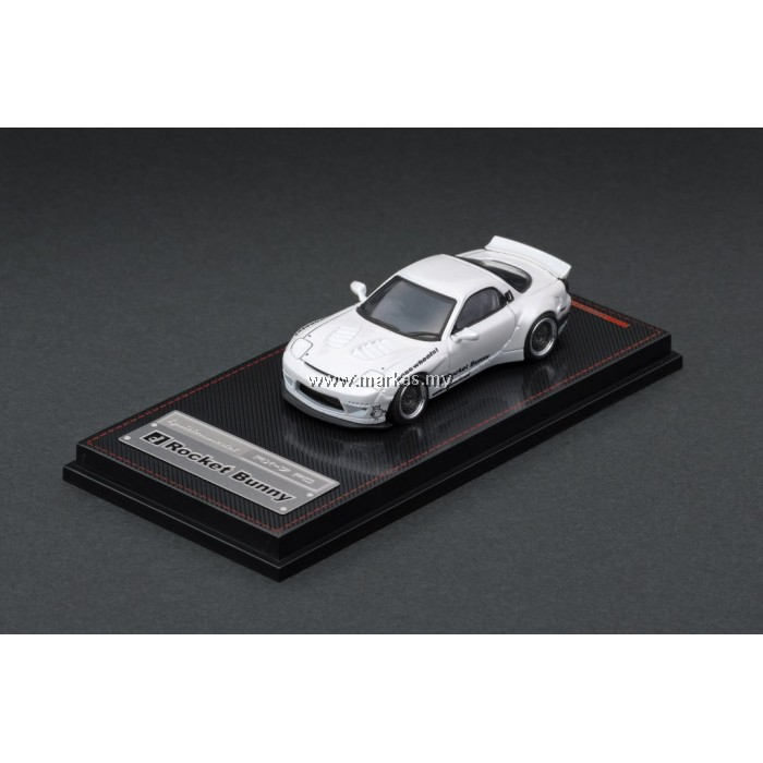 LOT IGNITION MODEL 1/64 ROCKET BUNNY RX-7 (FD3S) WHITE AND TARMAC WORKS 1/43 (A/B/C/D)