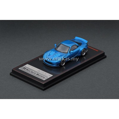 LOT IGNITION MODEL 1/64 ROCKET BUNNY RX-7 (FD3S) BLUE METALLIC AND TARMAC WORKS 1/43 (A/B/C/D)