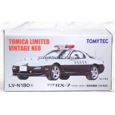 TOMICA LIMITED VINTAGE NEO MAZDA TLV-N18A MAZDA RX-7 POLICE CAR