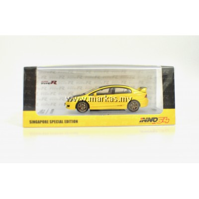 INNO MODELS INNO64 1/64 HONDA CIVIC TYPE-R FD2 SINGAPORE SPECIAL EDITION *2 STICKERS REQUIRED