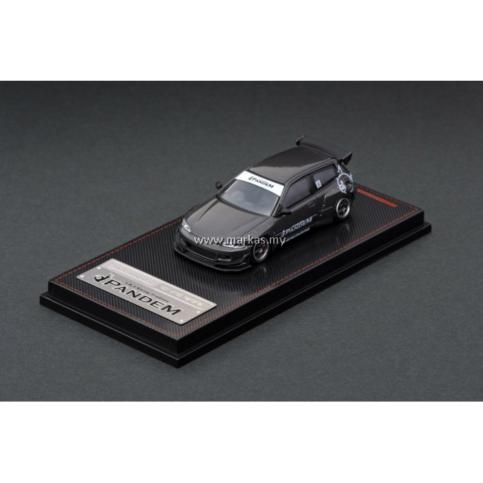 LOT IGNITION MODEL 1/64 PANDEM CIVIC (EG6) GUN METALLIC AND TARMAC WORKS 1/43 (A/B/C/D)