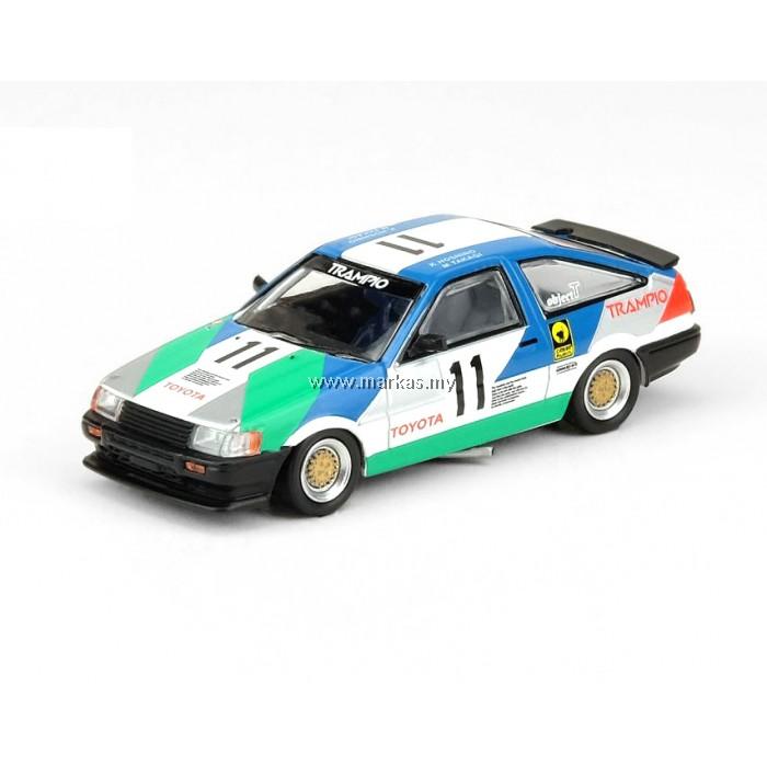 INNO MODELS INNO64 1/64 TOYOTA COROLLA LEVIN AE86 #11 TRAMPIO JTCC 1985