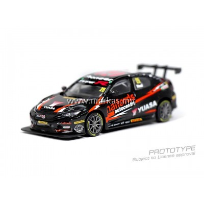 (PO) TARMAC WORKS 1/64 HONDA CIVIC TYPE R BTCC 2018