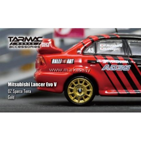 TARMAC WORKS 1/64 ACCESSORIES OZ SPARCO TERRA GOLD