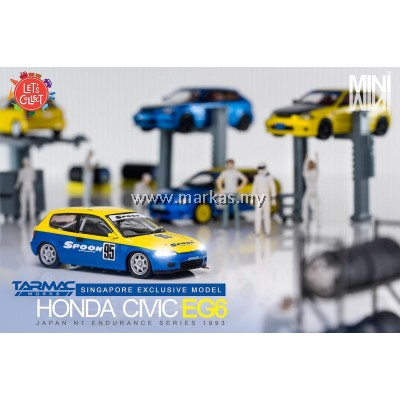 LOT TARMAC WORKS 1/64 HONDA CIVIC EG6 JAPAN N1 ENDURANCE SERIES 1993 SINGAPORE EXCLUSIVE & TARMAC WORKS 1/64 (A1-A5)