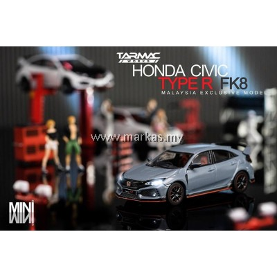 LOT TARMAC WORKS 1/64 HONDA CIVIC TYPE R SONIC GREY MALAYSIA EXCLUSIVE & TARMAC WORKS 1/64 (A1-A5)