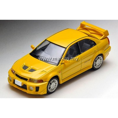 (PO) TOMICA LIMITED VINTAGE 1/64 LV-N187A MITSUBISHI GSR LANCER EVOLUTION V (YELLOW)