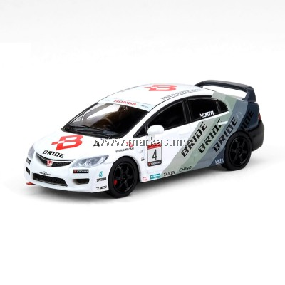 INNO MODELS INNO64 1/64 HONDA CIVIC TYPE-R FD2 #4 BRIDE MUGEN POWER CUP CIVIC ONE MAKE RACE 2012
